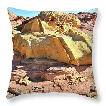 Morning In Wash 3 In Valley Of Fire Throw Pillow