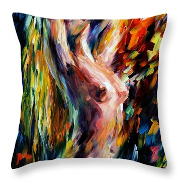 Morning Throw Pillow by Leonid Afremov