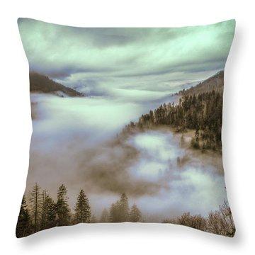 Morning Mountains II Throw Pillow