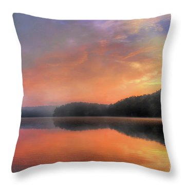 Throw Pillow featuring the photograph Morning Solitude by Darren Fisher