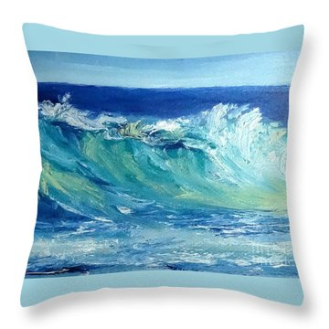 Morning Surf Throw Pillow by Fred Wilson