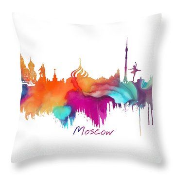 Moscow  Throw Pillow by Justyna JBJart