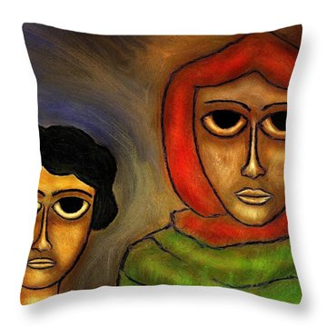 Mother And Child Throw Pillow by Rafi Talby