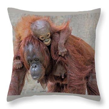 Motherhood 2 Throw Pillow