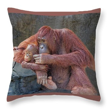 Motherhood 4 Throw Pillow