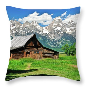 Throw Pillow featuring the photograph Moulton Barn by Greg Norrell