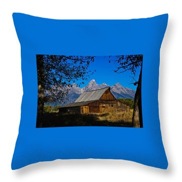 Throw Pillow featuring the photograph Moulton Barn by Norman Hall