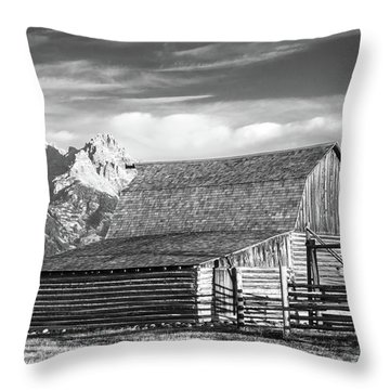 Throw Pillow featuring the photograph Moulton Homestead - Barn by Colleen Coccia