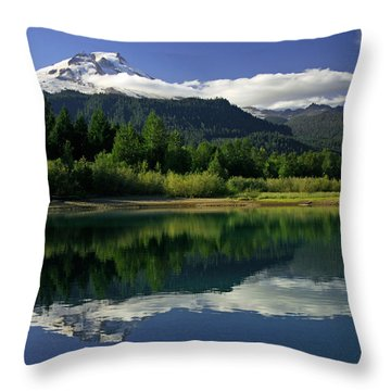 Mount Baker Throw Pillow