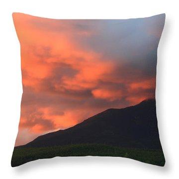 Mount Katahdin Sunset Throw Pillow