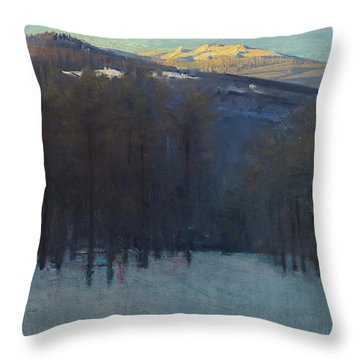 Mount Monadnock Throw Pillow