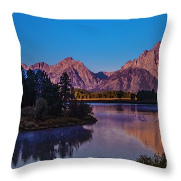Mount Moran Throw Pillow