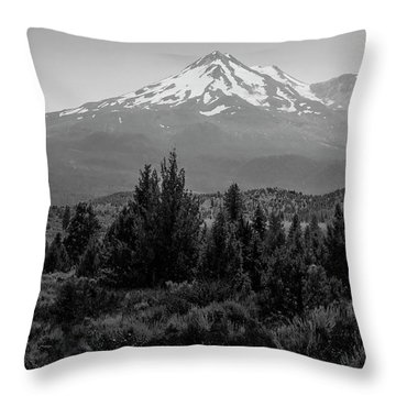 Throw Pillow featuring the photograph Mount Shasta And Shastina by Frank Wilson
