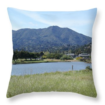 Mount Tamalpais Throw Pillow