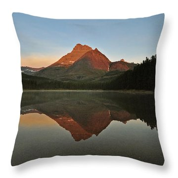 Mount Wilbur, Glacier National Park Throw Pillow