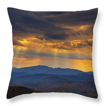 Throw Pillow featuring the photograph Mountain God Rays by Ken Barrett