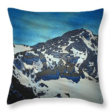 Throw Pillow featuring the painting Mountain by Mark Taylor