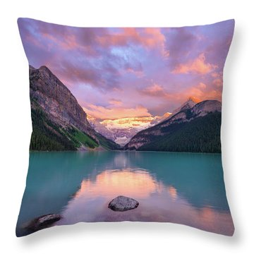 Mountain Rise Throw Pillow