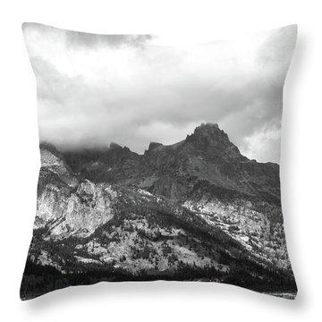 Throw Pillow featuring the photograph Mountain Shadows by Colleen Coccia