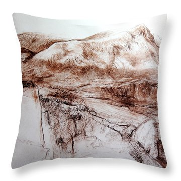 Mountains In Snowdonia Throw Pillow by Harry Robertson