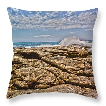 Mouth Of Margaret River Beach II Throw Pillow