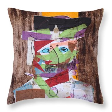 Mr Leopold Bloom Throw Pillow by Roger Cummiskey