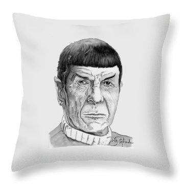 Mr Spock Throw Pillow