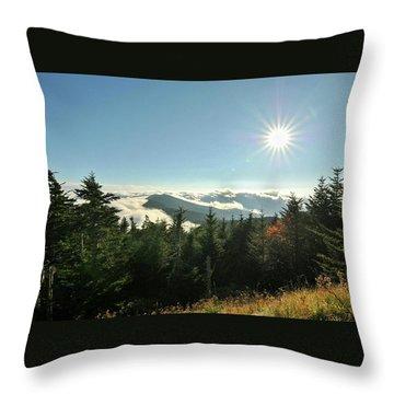 Mt Mitchell Landscape Throw Pillow