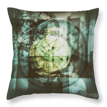 Throw Pillow featuring the photograph Multi Exposure Clock   by Ariadna De Raadt