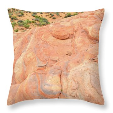 Throw Pillow featuring the photograph Multicolored Wave In Valley Of Fire by Ray Mathis