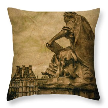 Paris, France - Muse Throw Pillow