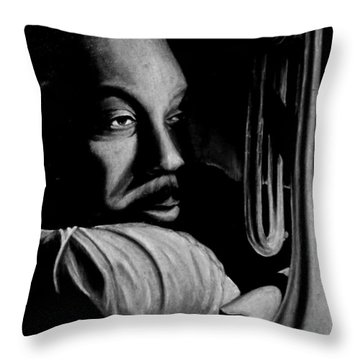 Musical Muse Throw Pillow