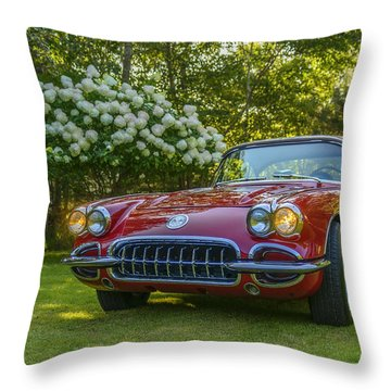 My 1960 Corvette Throw Pillow