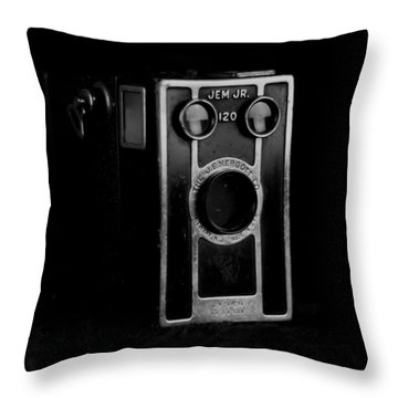 Throw Pillow featuring the photograph My Dad's Camera by Jeremy Lavender Photography