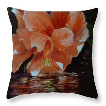 My Hibiscus Throw Pillow