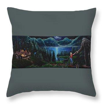 My Little Secret Throw Pillow