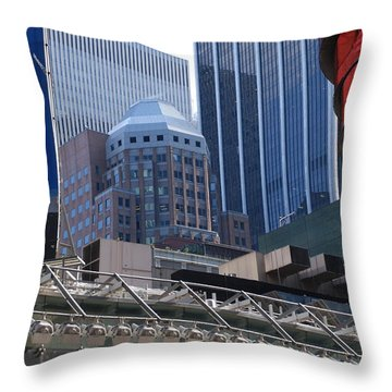 N Y C Architecture Throw Pillow by Rob Hans