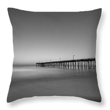 Nags Head Fishing Pier Sunrise Throw Pillow