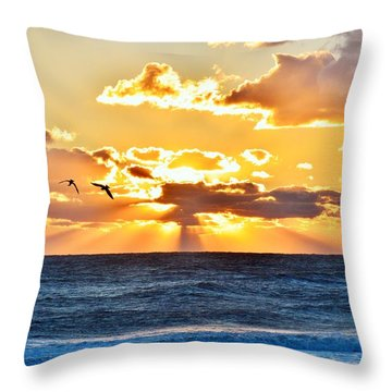 Nags Head Sunrise  Throw Pillow