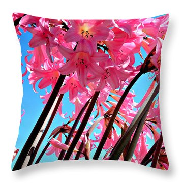 Naked Ladies Throw Pillow