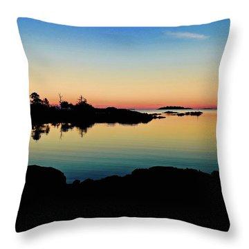 Nanoose Lagoon Dusk Throw Pillow