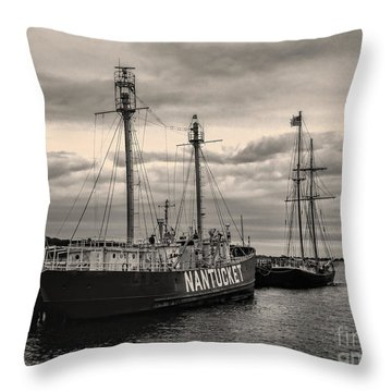 Nantucket Lightship Throw Pillow