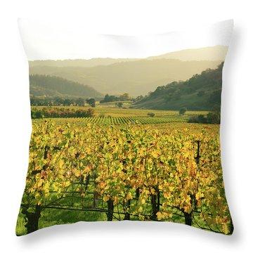 Napa Valley In Autumn Throw Pillow