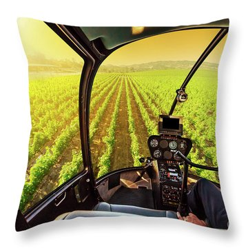 Napa Valley Scenic Flight Throw Pillow