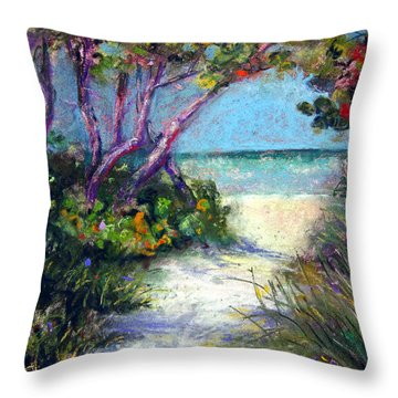 Naples On Third Throw Pillow by Laurie Paci
