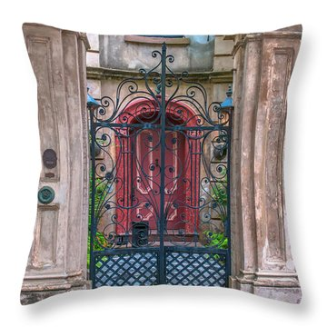 Narrow Is The Gate Throw Pillow