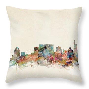 Nashville Tennessee Skyline  Throw Pillow