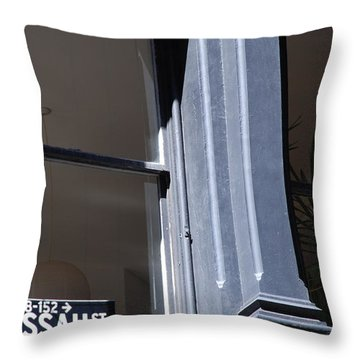 Nassau Street Throw Pillow by Rob Hans