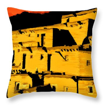 Native American Sunset Throw Pillow