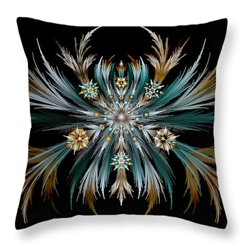 Native Feathers Throw Pillow